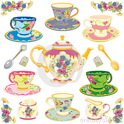 Free Victorian Tea Set Royalty Free Stock Photos - 12864748