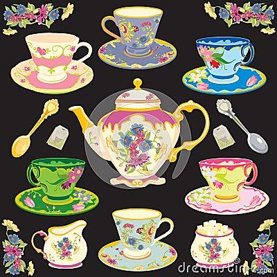 Free Victorian Tea Set Stock Images - 12990254