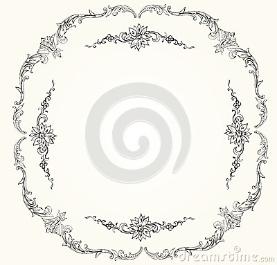 Victorian vector frame