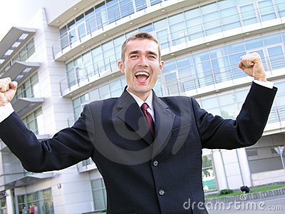 Victorious Businessman