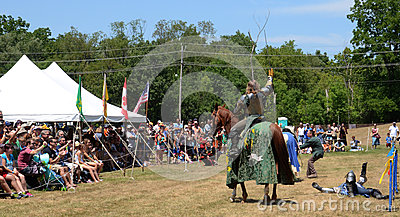 Victorious jouster Editorial Stock Image