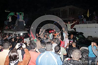 Victory celebrations in Gaza Editorial Stock Photo