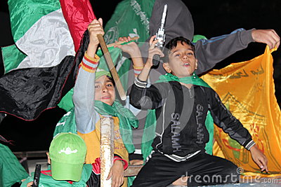 Victory celebrations in Gaza Editorial Photo