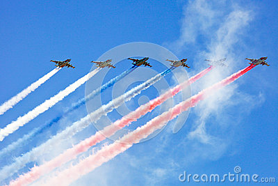 Victory Day air parade Editorial Stock Image
