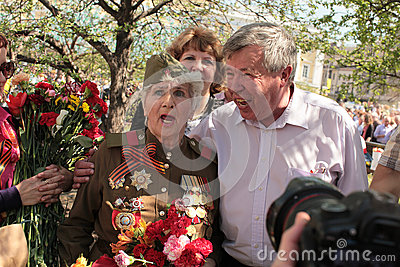 Victory day celebration in Moscow, 2013