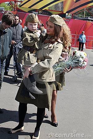 Victory day celebration in Russia, Moscow
