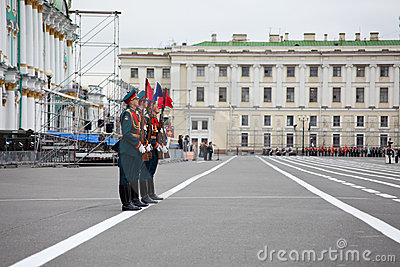Victory Day parade rehearsal Editorial Stock Image
