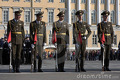 Victory Day parade rehearsal Editorial Photo