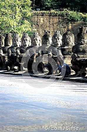 Victory Gate- Angkor Thom, Cambodia