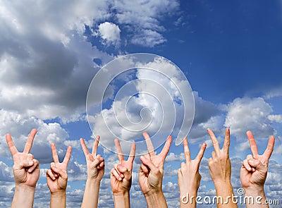 Victory gestures