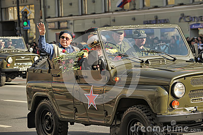 Victory parade 2012 Editorial Stock Image