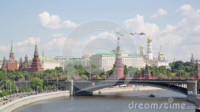 Victory Parade in Moscow stock footage