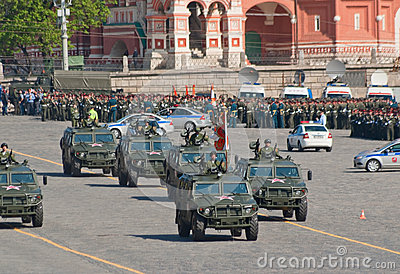 Victory parade rehearsal: GAZ-2330  Editorial Image