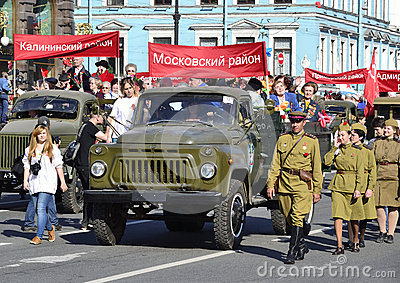 Victory parade in St.Petersburg Editorial Stock Image
