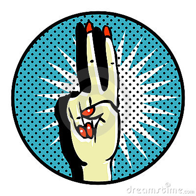 Free Victory Popart Symbol Royalty Free Stock Photography - 17433787