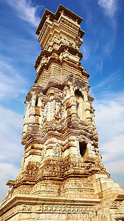 Victory tower.Cittorgarh Fort, India
