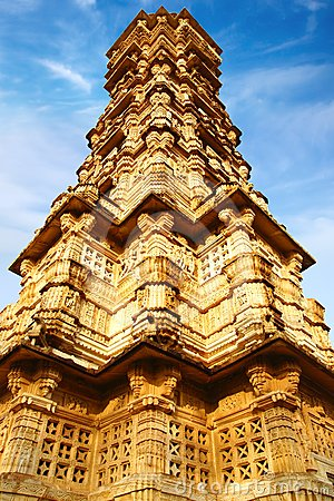 Victory tower. Cittorgarh Fort, India