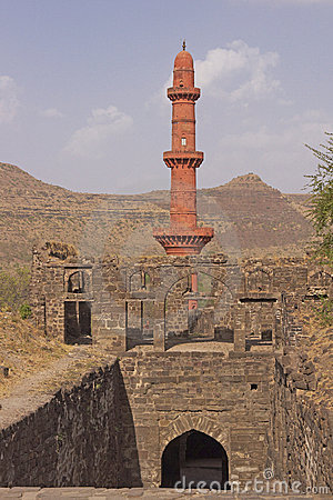 Victory Tower at Daulatabad Fort, India