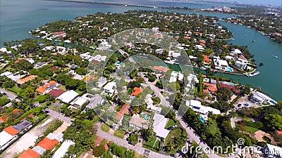 Vidéo aérienne des îles de port de coucher du soleil clips vidéos