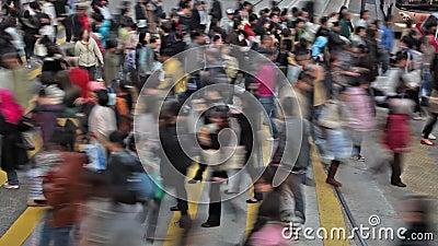 Vidéo de Timelapse d'un passage piéton occupé