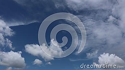 Vidéo en accéléré des nuages de mousson banque de vidéos