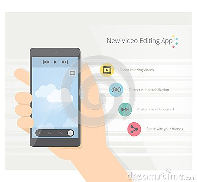 Video App Stock Vector Image 44179821