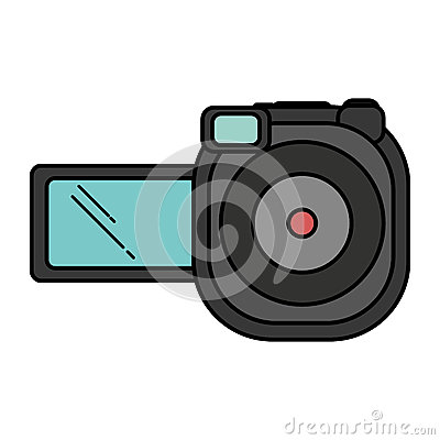 Video camera device isolated icon Vector Illustration