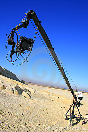 Free Video Camera On Boom Stock Image - 5064981