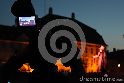 Video camera viewfinder in the night