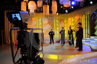 Video camera viewfinder - TV show