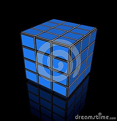 Video cube of flat tv screens
