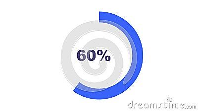 Video de 4K de animación simple carga de anillo circular Descarga mínima de transferencia de carga 0-100% en fondo blanco Creativ ilustración del vector