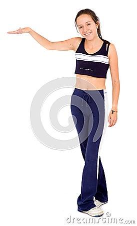 Visualizzazione della donna di forma fisica