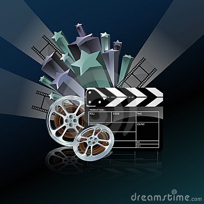 Video film tape and cinema clapper