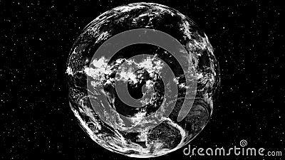 Video Footage: Schitterend roterend aardoppervlak De hoek van de Mening van de ruimte van de Wereld sluiten Grafische animatiepla vector illustratie