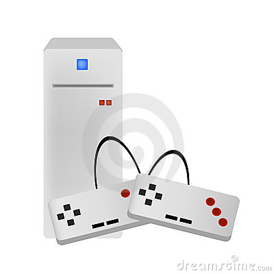 Video game console vector