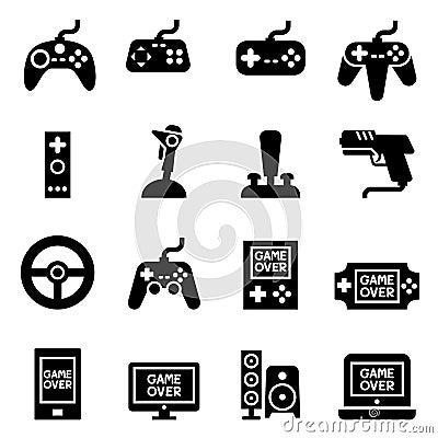 Video game Controller, Joystick Gamepad icon Cartoon Illustration