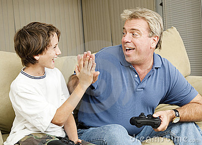 Video Gamers High Five