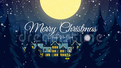 video greeting with merry christmas and happy new year stock footage video of postcard magic 123811450