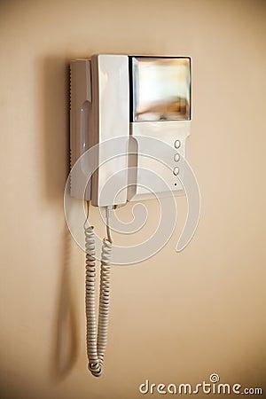 Video intercom on the wall