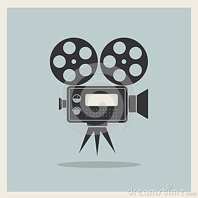 Free Video Movie Camera On Retro Background Stock Images - 36382284