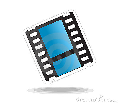 Video movie icon isolated