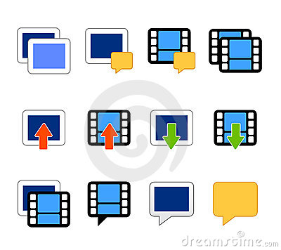 Video and photo icons vector