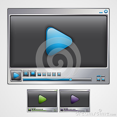Video player interface.
