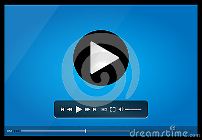 Video Player Design Stock Vector - Image: 69829678