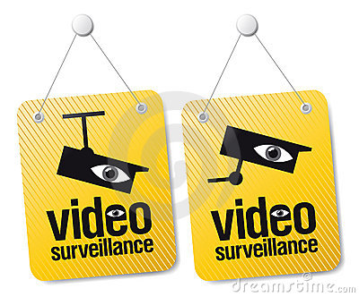 Video surveillance signs.