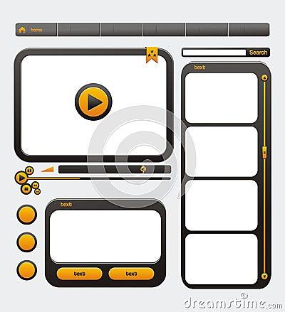 Video web site design template