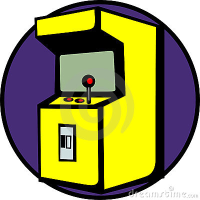 Videogame arcade machine vector illustration