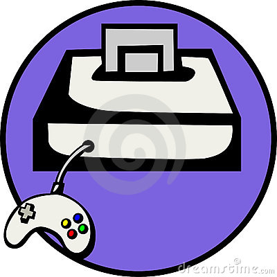 videogame console with game. Vector file available