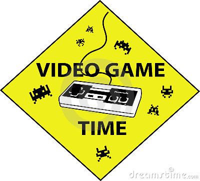 Videogame time sign